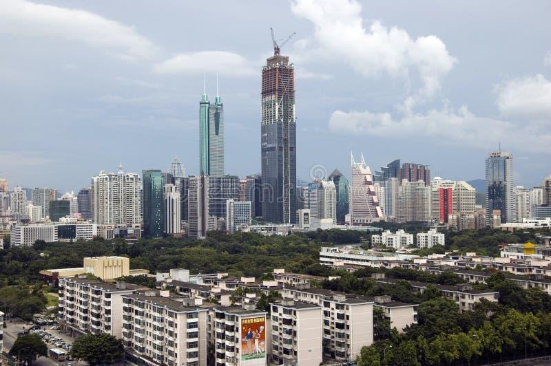 Gratte-ciel de ville de la Chine, Shenzhen images stock