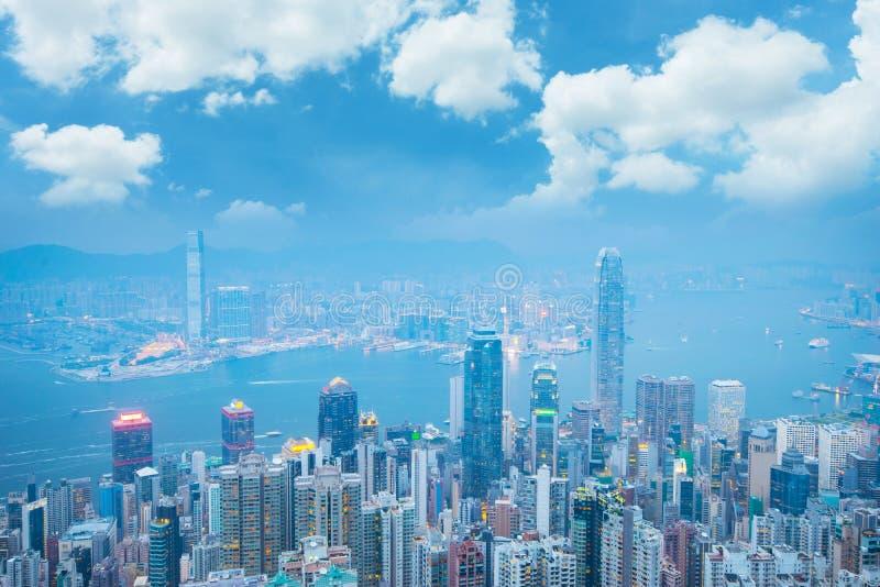 Gratte-ciel de ville de district des affaires de Hong Kong photo stock