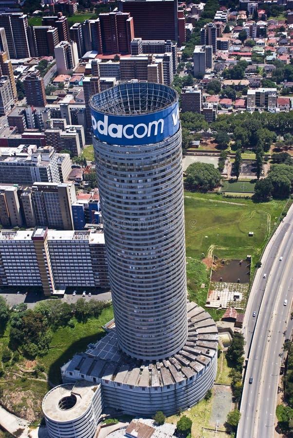 Gratte-ciel de Vodacom Vodafone Ponte image libre de droits