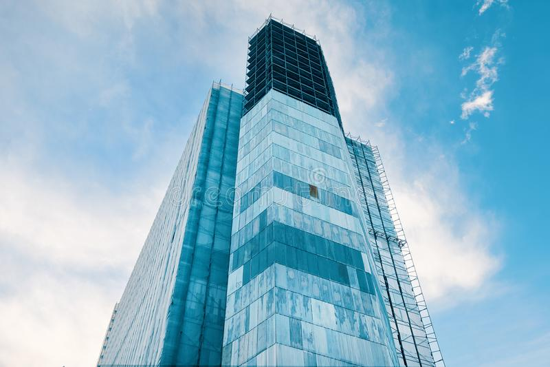 Gratte-ciel en construction photo libre de droits