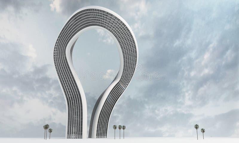 Gratte-ciel moderne abstrait incurvé illustration de vecteur