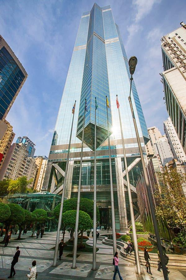Gratte-ciel moderne au centre d'affaires de l'île du HK photo stock