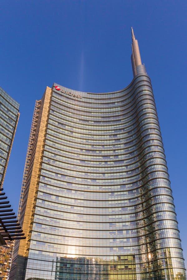 Gratte-ciel modernes dans Gael carré Aulenti, Porta Nuova, à Milan Italie photo stock