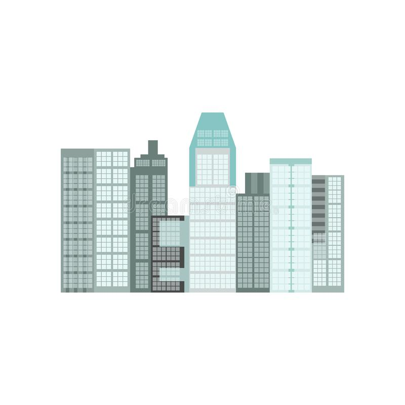 Gratte-ciel modernes dans l'illustration de vecteur de Singapour illustration de vecteur