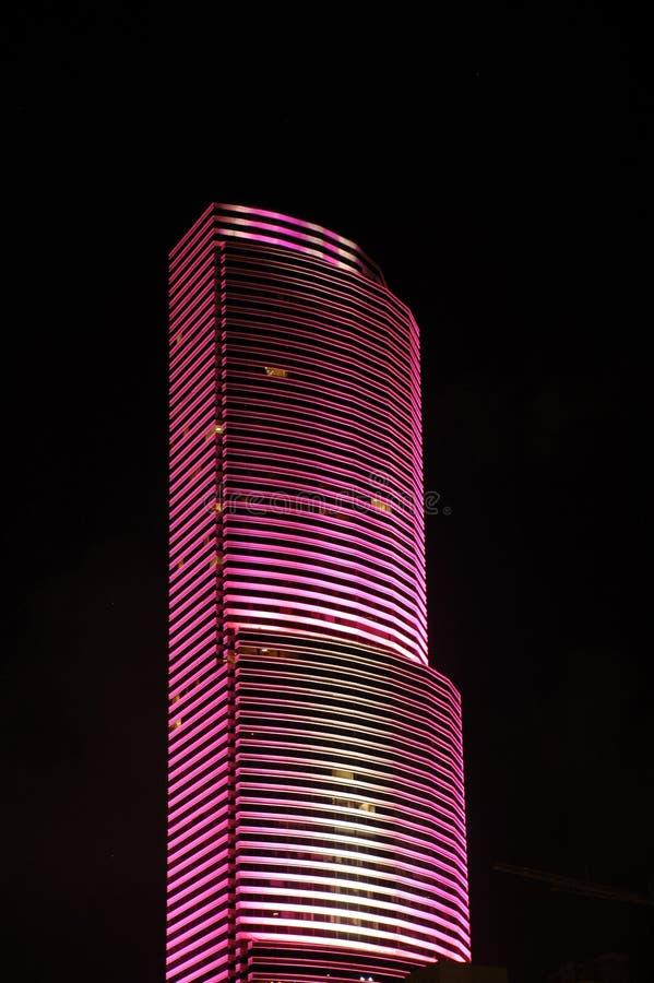 Gratte-ciel rose à Miami photos stock