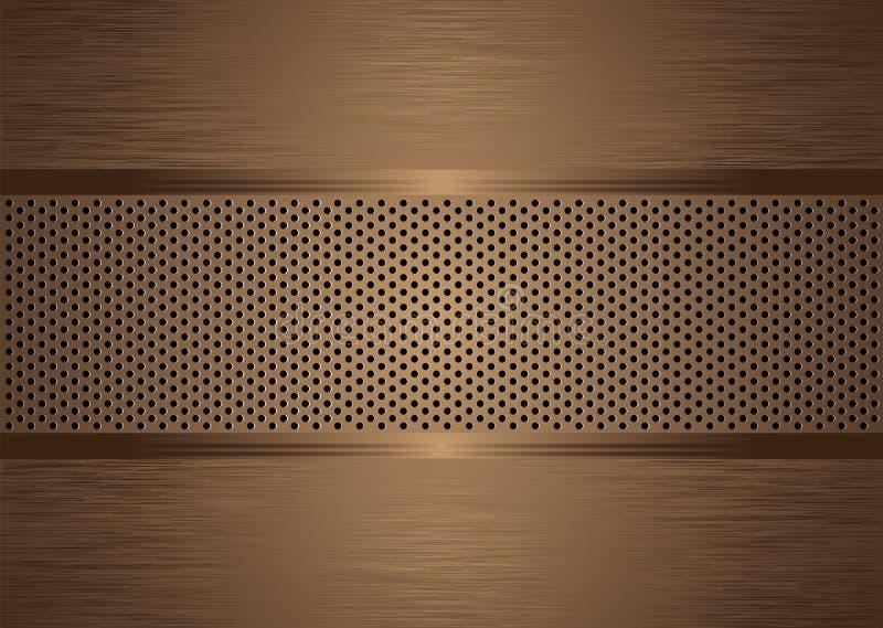 Gratted Bronze aufgetragen vektor abbildung