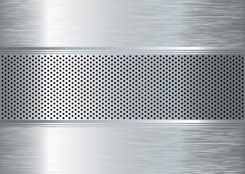 Gratted Metall aufgetragen lizenzfreie abbildung