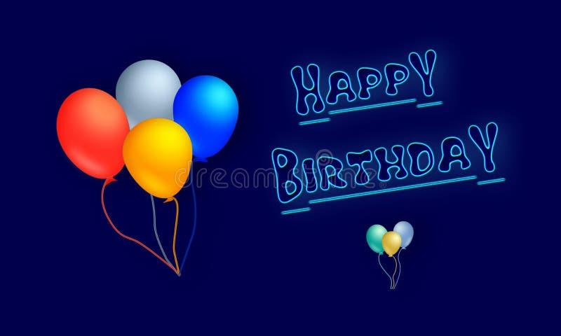 Grattis på födelsedagen stock illustrationer