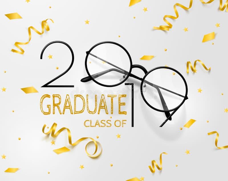 Gratulacje absolwenci Literowanie dla skalowanie klasy 2019 Wektorowy tekst dla skalowanie projekta, gratulacyjny wydarzenie, prz royalty ilustracja