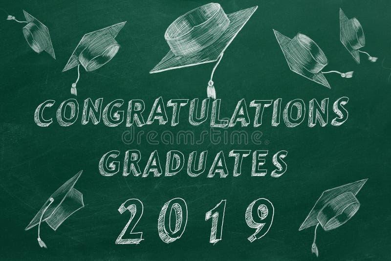 Gratulacje absolwenci 2019 ilustracja wektor