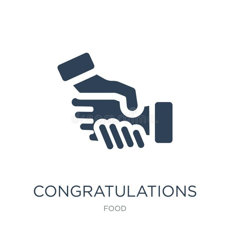 gratulacje ikona w modnym projekta stylu gratulacje ikona odizolowywająca na białym tle gratulacje wektorowa ikona prosta ilustracji
