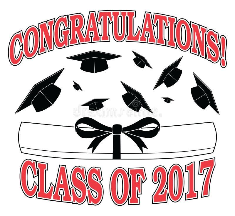 Gratulacje klasa 2017 royalty ilustracja