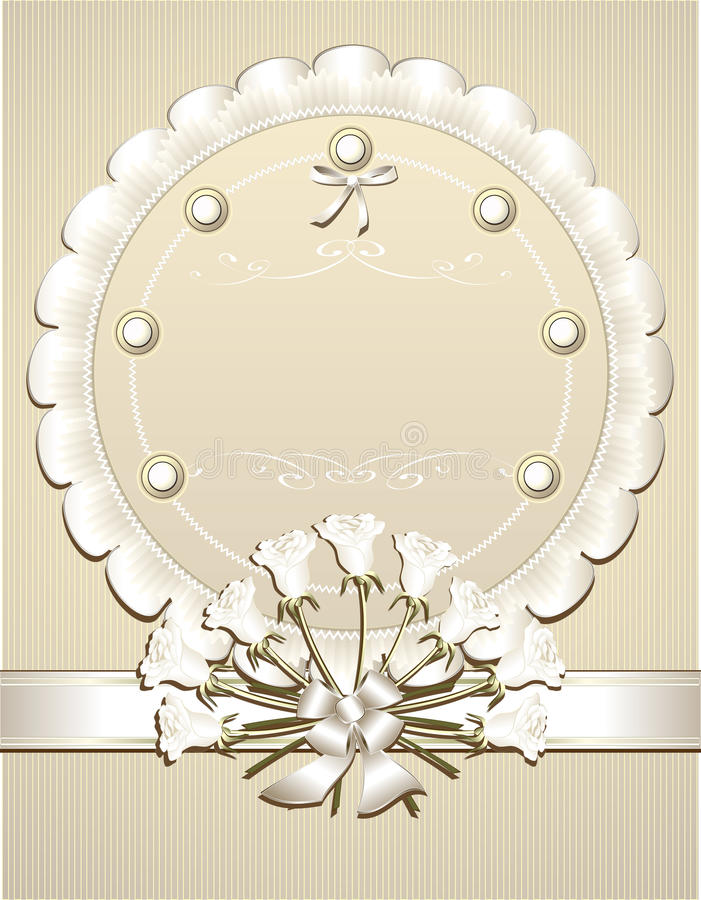 gratulacyjny zaproszenia r ślubu biel ilustracja wektor