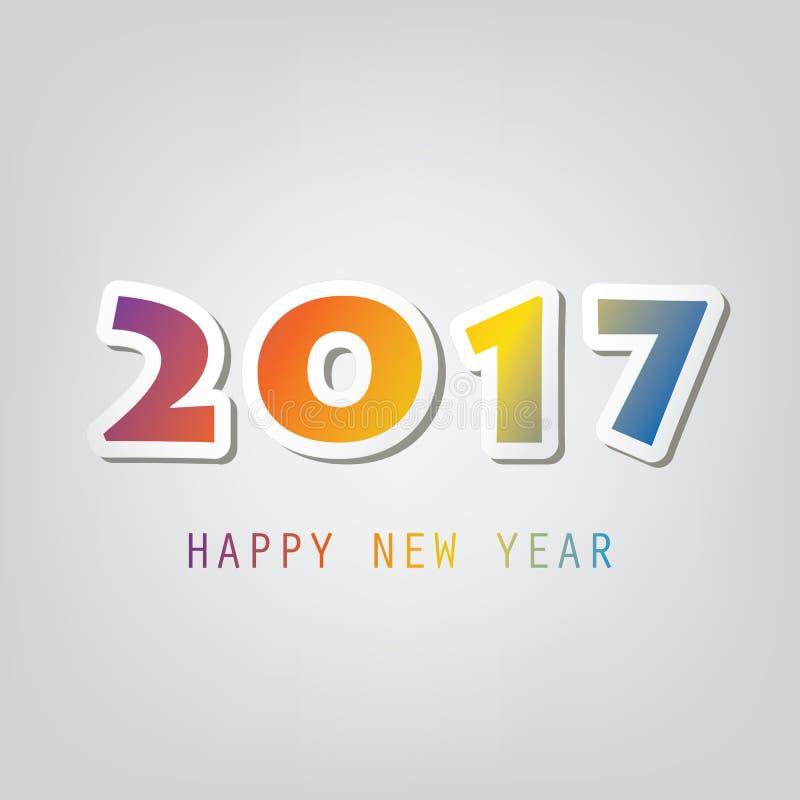 Gratulationer - abstrakt modernt kort för hälsning för lyckligt nytt år för stil eller bakgrund, idérik designmall - 2017 stock illustrationer