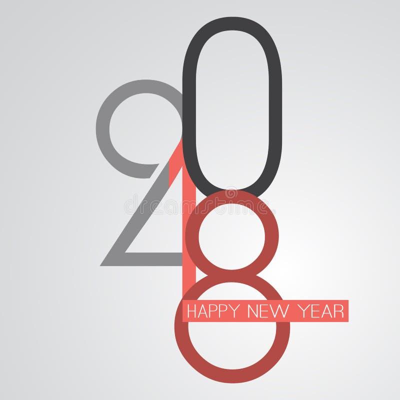Gratulationer - abstrakt Retro kort för hälsning för lyckligt nytt år för stil eller bakgrund, idérik designmall - 2018 vektor illustrationer