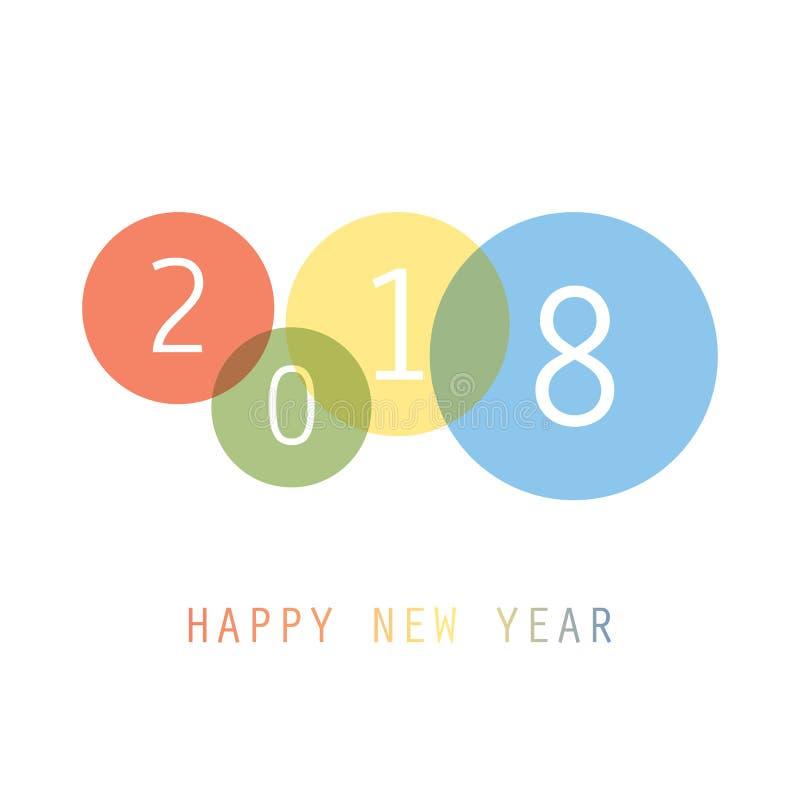Gratulationer - enkel färgrik för kort-, räknings- eller bakgrundsdesign för nytt år mall - 2018 vektor illustrationer