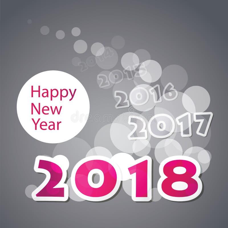 Gratulationer - för kort-, räknings- eller bakgrundsdesign för nytt år mall - 2018 royaltyfri illustrationer