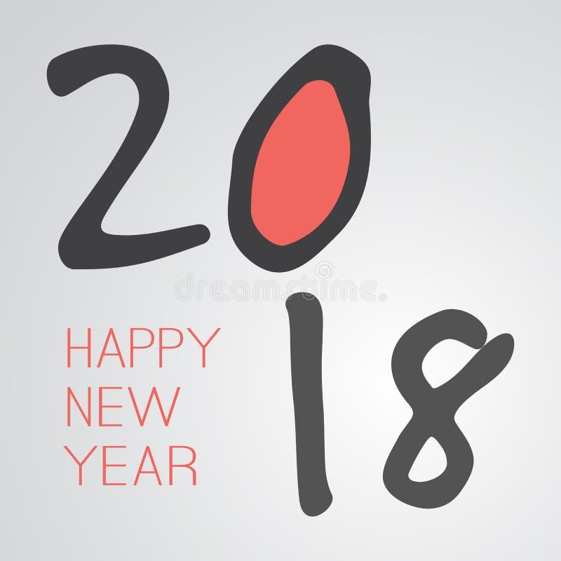 Gratulationer - roligt Retro kort för hälsning för lyckligt nytt år för stil stock illustrationer
