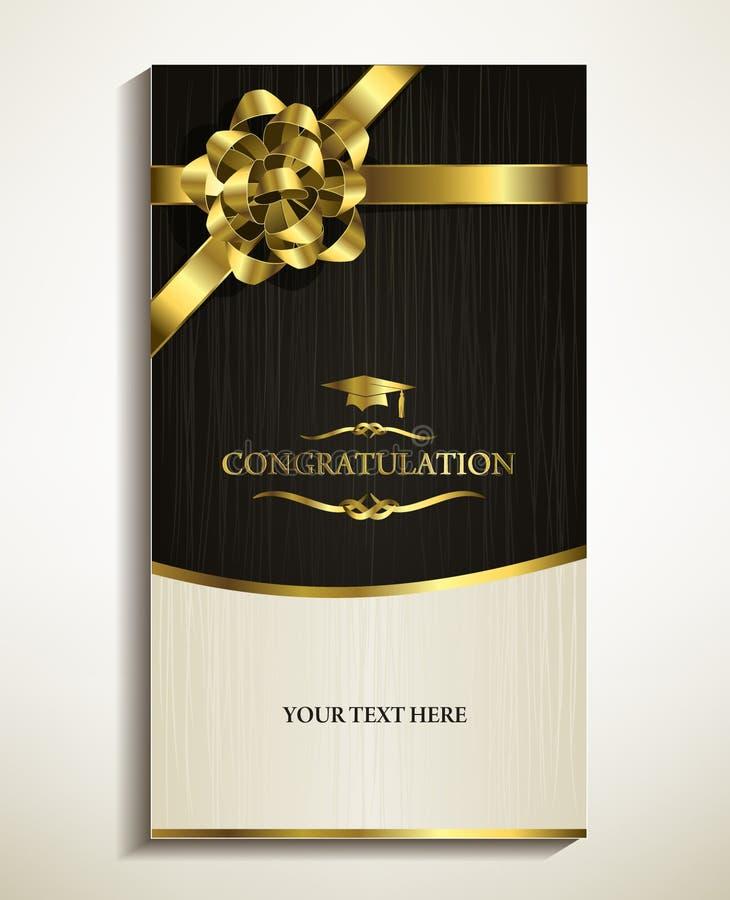 Gratulować kartę, zaproszenie, kartka z pozdrowieniami ilustracja wektor
