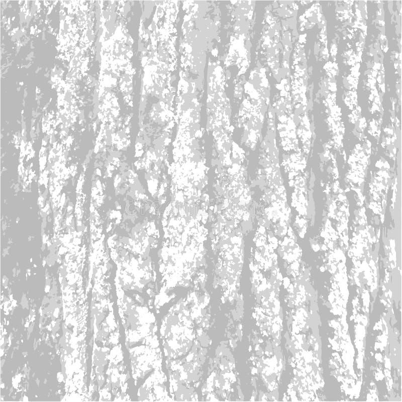 Grau, Beschaffenheit Barke Schwarz-weißer stilvoller Hintergrund der Natur Auch im corel abgehobenen Betrag Drei Farben stock abbildung