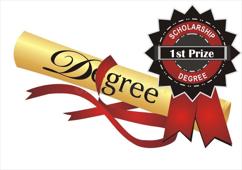 Grau e prêmio ilustração royalty free