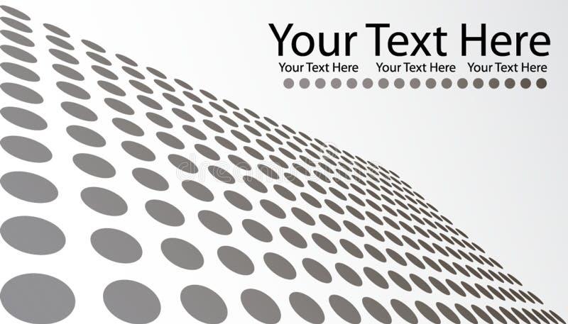 Grau punktiert Visitenkarte lizenzfreie abbildung