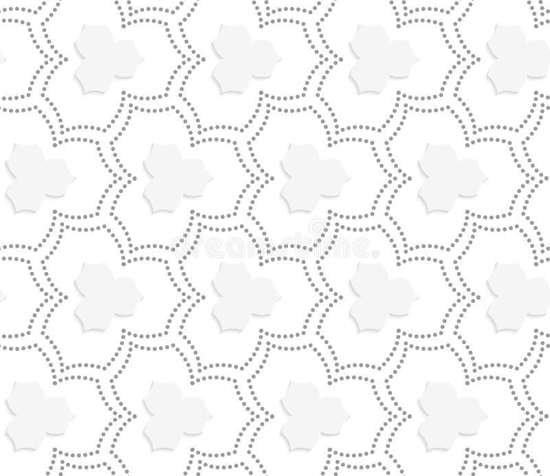 Grau punktierte drei spitze Blumen des Pedals mit Mitte vektor abbildung