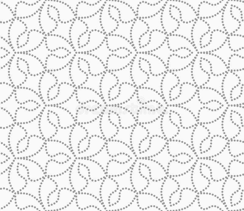 Grau punktierte sechs Pedalblumen lizenzfreie abbildung