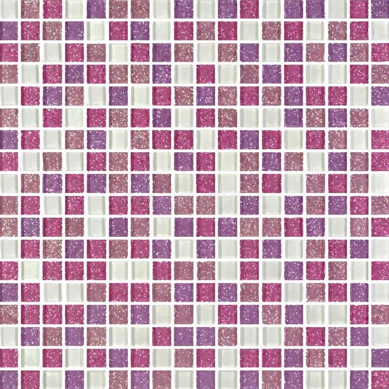 Grau, Rosa, Purpurrot das wirkliche Foto oder der Ziegelstein der Fliesenwandhohen auflösung nahtlos und Beschaffenheitsinnenhint vektor abbildung