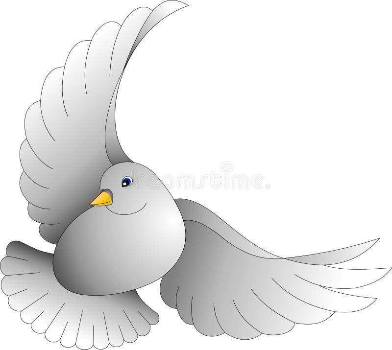 Grau tauchte mit blauen Augen, im Flug, vektor abbildung