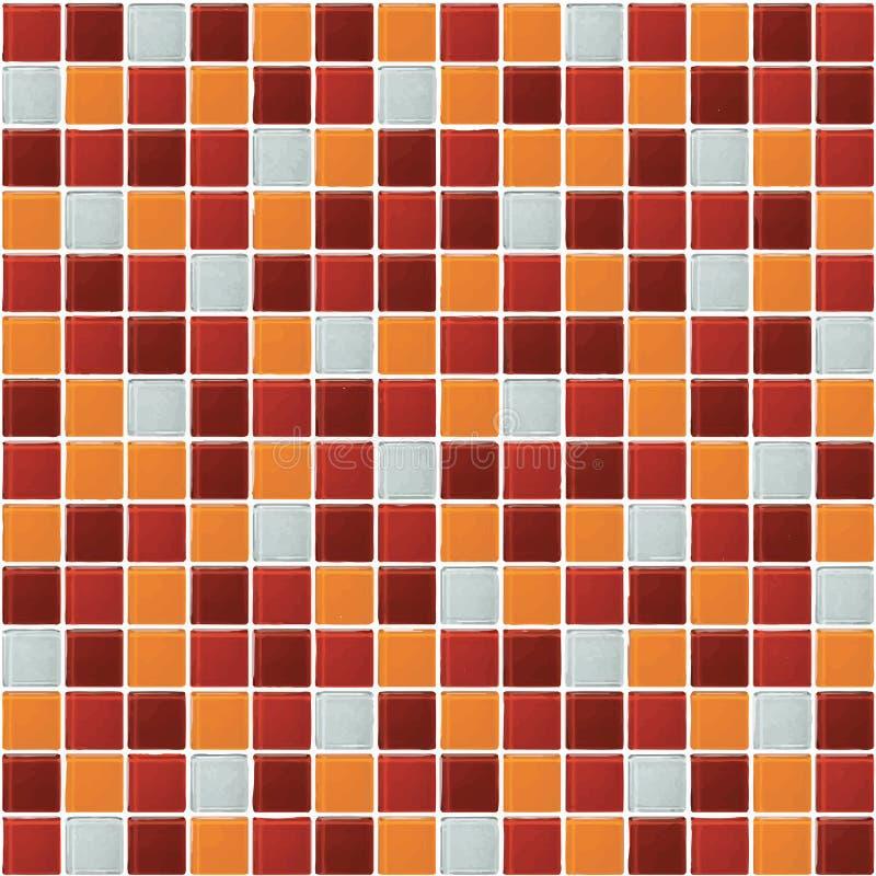 Grau und Orange das wirkliche Foto oder der Ziegelstein der Fliesenwandhohen auflösung nahtlos und Beschaffenheitsinnenhintergrun lizenzfreie abbildung