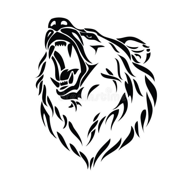 Graubärbärenkopf lizenzfreie abbildung