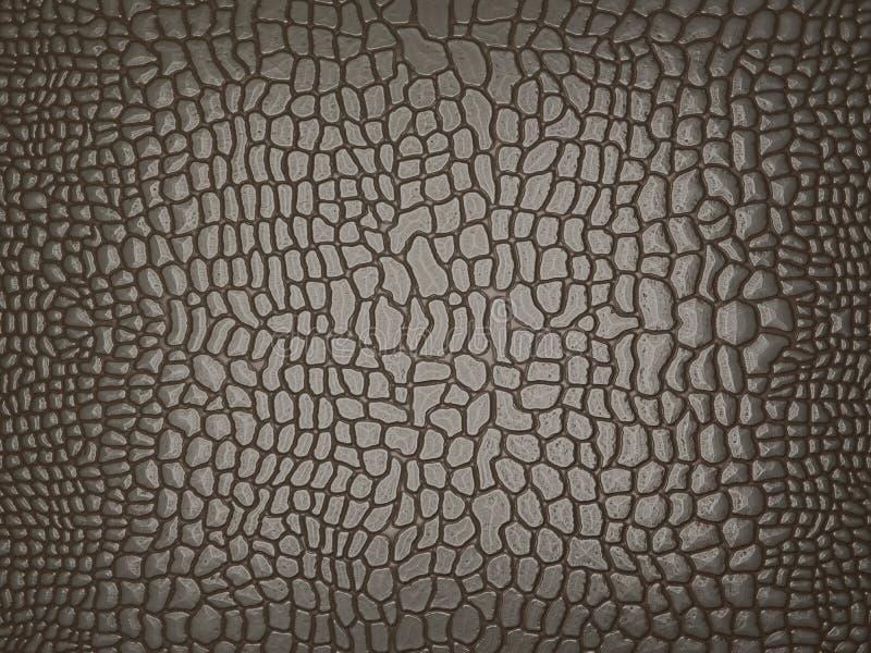 Graue Alligatorhaut: nützlich als Beschaffenheit oder Hintergrund vektor abbildung