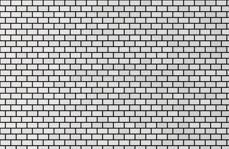 Graue Beschaffenheit des Wandziegelsteines für Hintergrund und Tapete vektor abbildung