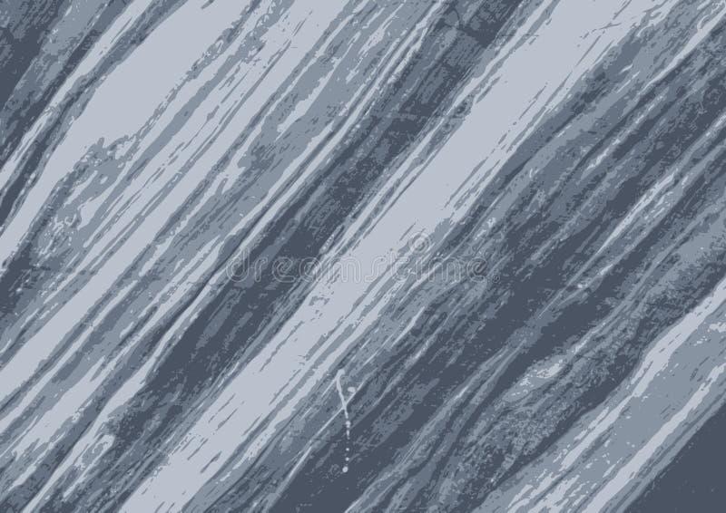 Graue blaue Beschaffenheit des Schmutzmarmorvektors stock abbildung