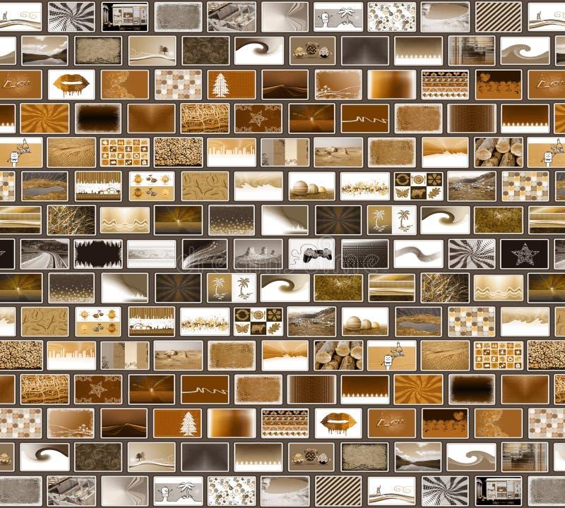 Graue braune Mosaikwand stock abbildung