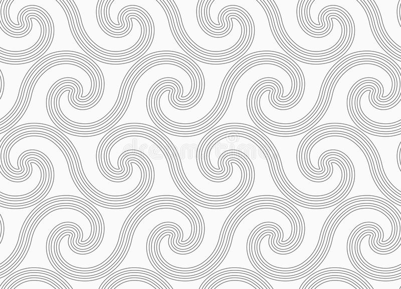 Graue einfache gestreifte Spiralenwellen stock abbildung