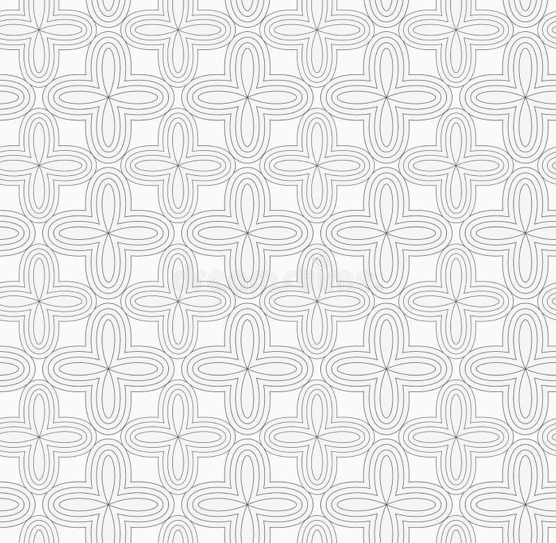 Graue einfache vier geometrische Blumen des Pedals stock abbildung