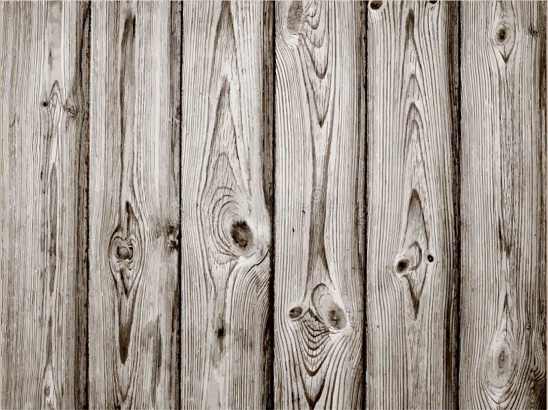 Graue hölzerne Plankenbeschaffenheit für Hintergrund Vektor lizenzfreie abbildung