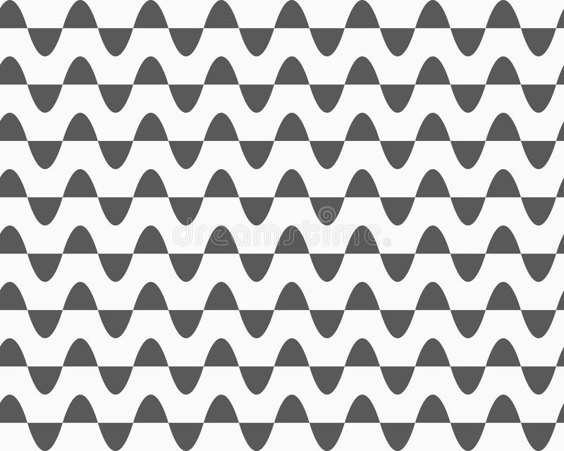 Graue horizontale halb Ovale in den Reihen stock abbildung