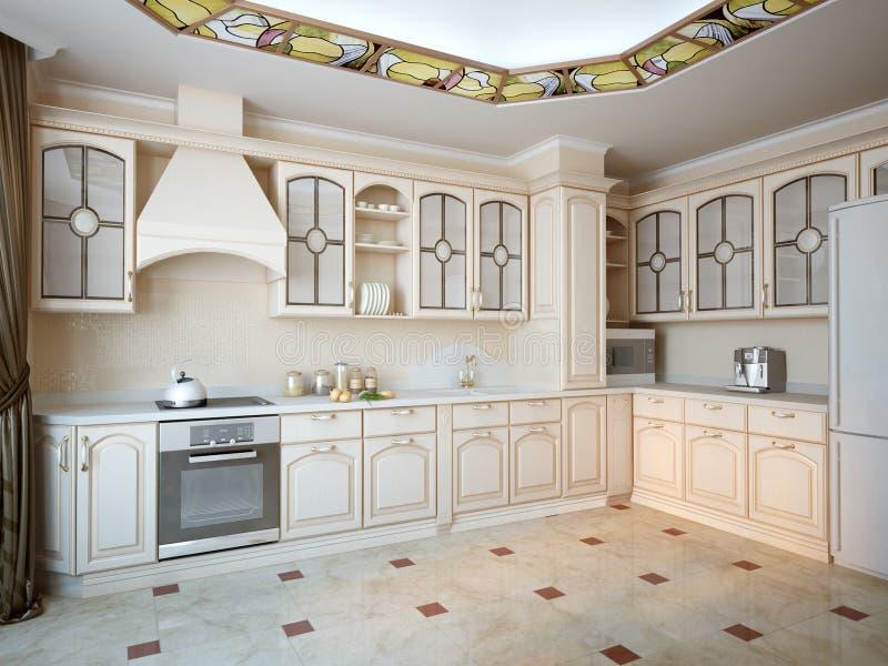 Graue Küche stock abbildung