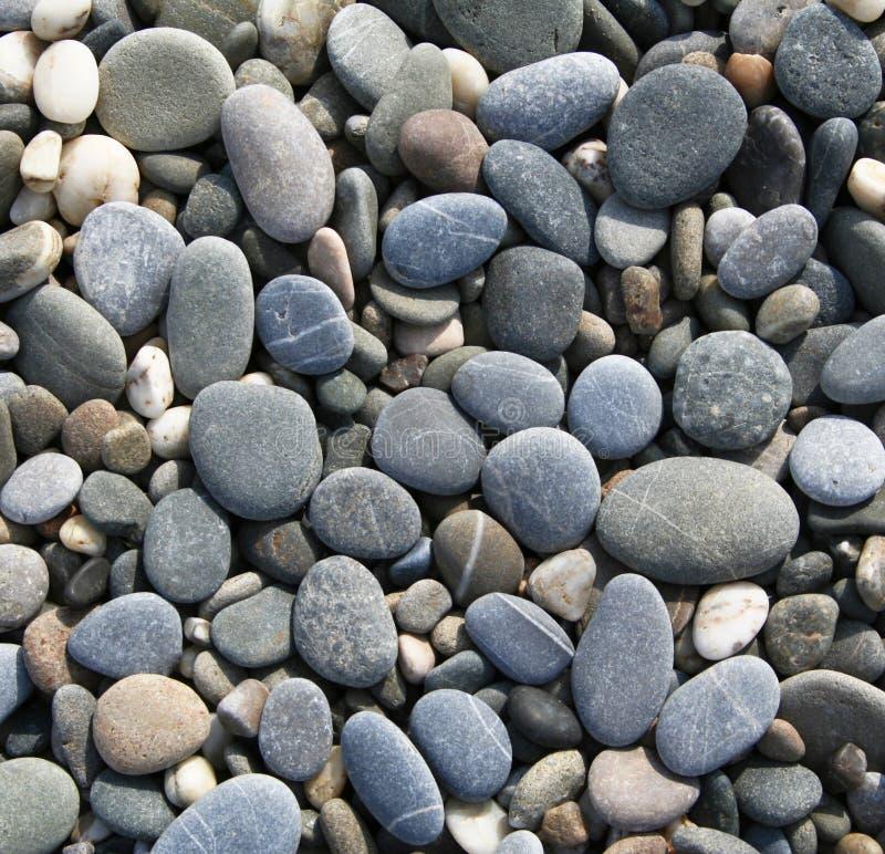 Graue Kiesel auf dem Strand als Hintergrund lizenzfreies stockbild