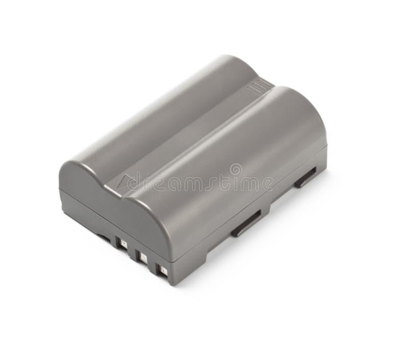 Graue Lithiumionbatterie für dslr Kamera stockbilder