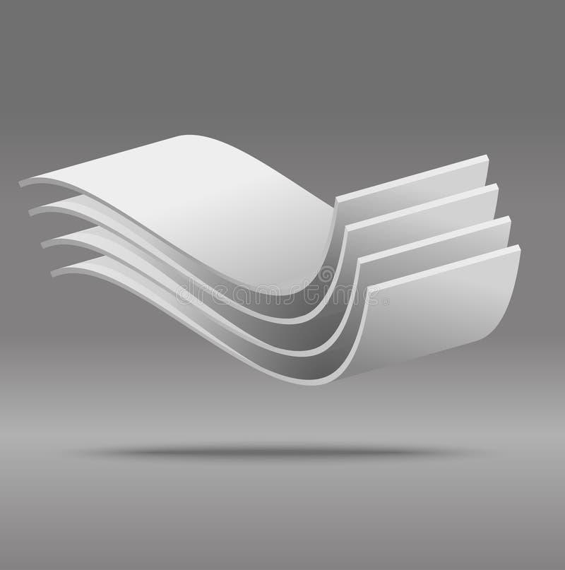 Graue Nachricht des vektorauszuges 3D vektor abbildung