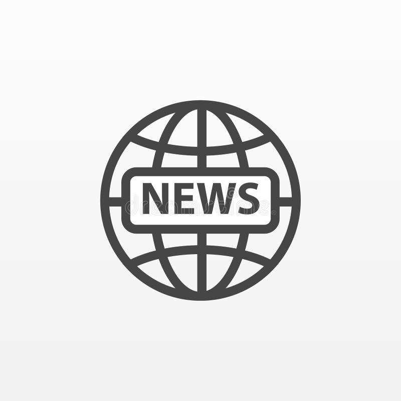 Graue Nachrichtenikone lokalisiert auf Hintergrund Modernes flaches Piktogramm, Geschäft, Marketing, Internet-Konzept stock abbildung