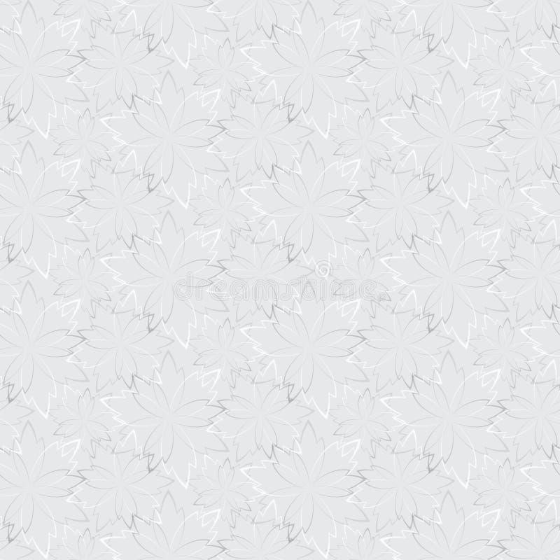 Graue nahtlose Tapete mit Blumenmuster lizenzfreie abbildung