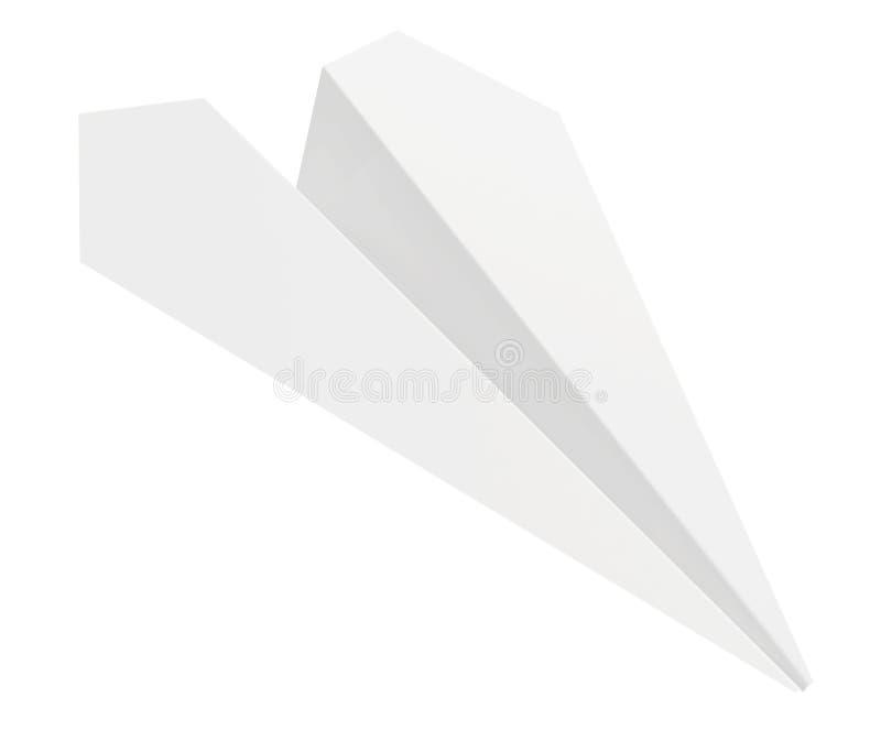 Graue Papierfläche Getrennt auf weißem Hintergrund lizenzfreie abbildung