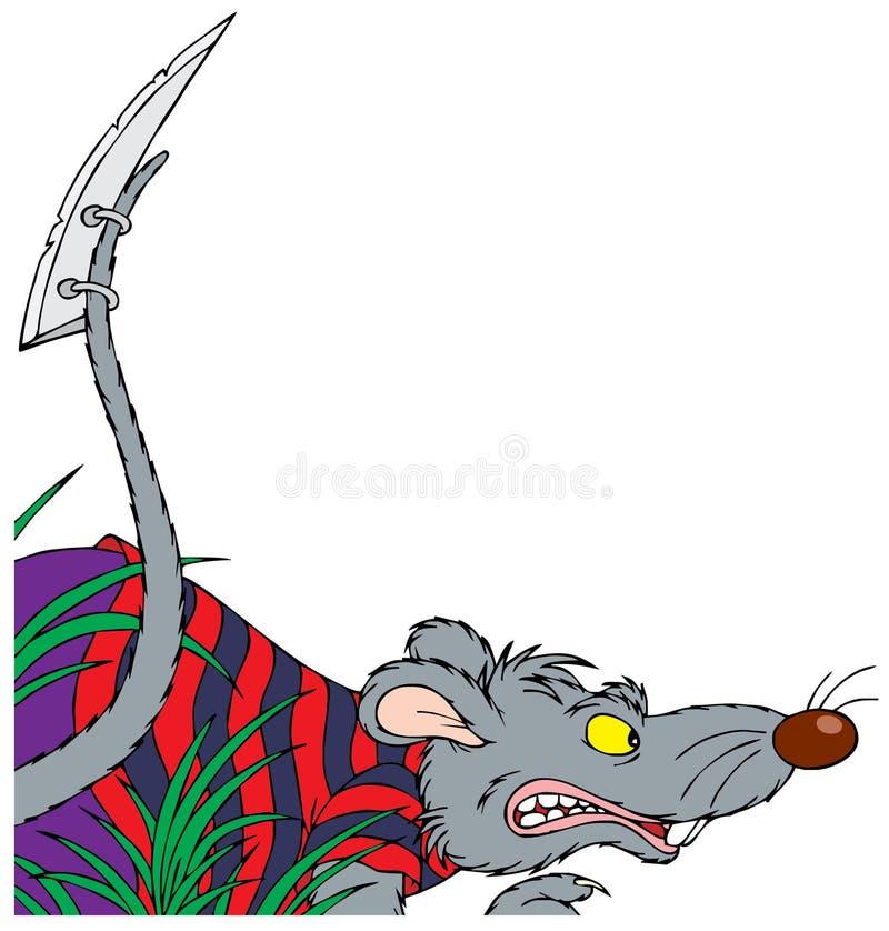 Graue Ratte lizenzfreie abbildung