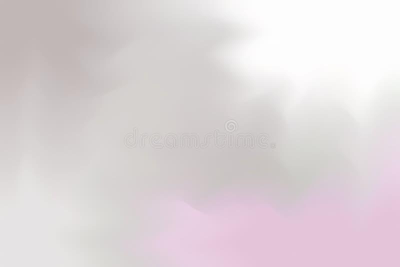 Graue rosa weiche Farbe mischte Hintergrundmalerei-Kunst-Pastellzusammenfassung, bunte Kunsttapete stock abbildung