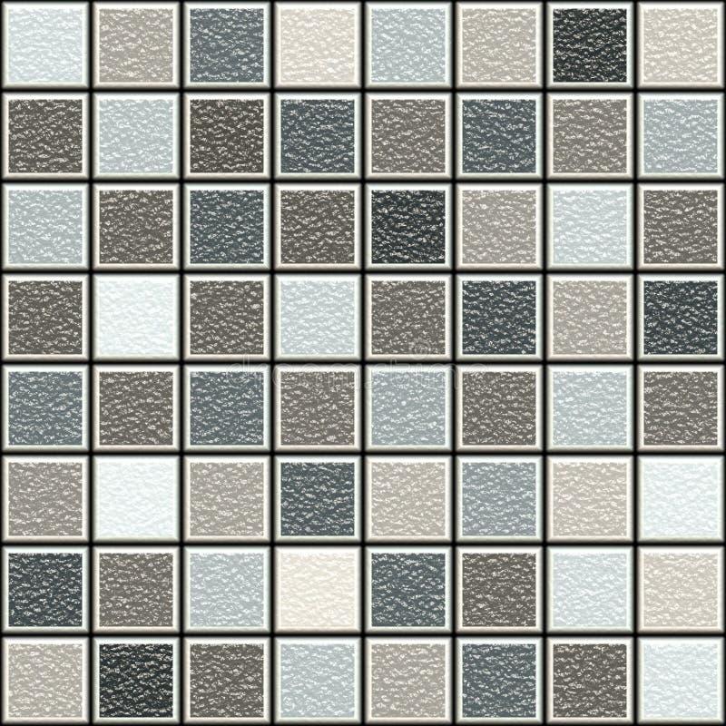 Graue und braune Struktur 3d deckt Muster mit Ziegeln stock abbildung